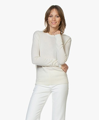 Filippa K Cashmere R-neck Sweater - Butter