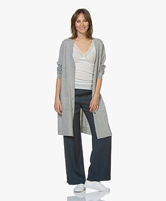 Repeat Half Long Cardigan from Pure Cashmere - Silver Grey