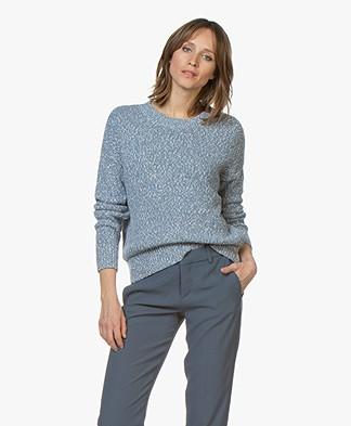 Repeat Cotton Mouliné Sweater - Denim Blue