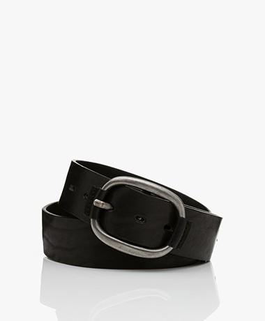 ba&sh Barlone Calf Leather Belt - Black