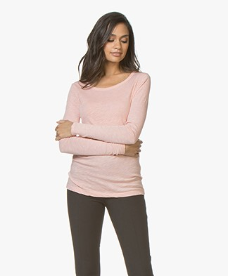 LEÏ 1984 Georges Long Sleeve in Extra-fine Jersey - Nude