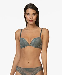 Calvin Klein CK Black Push-up Plunge BH - Mountain Ash