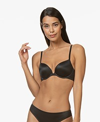 Calvin Klein Liquid Touch Push-up Plunge BH - Zwart