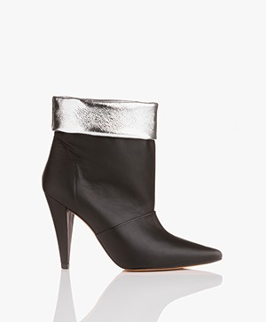IRO Avina Leather Booties - Black