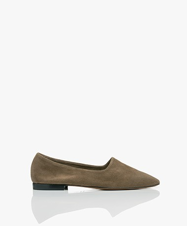 ATP Atelier Andrano Suede Loafers - Khaki Brown