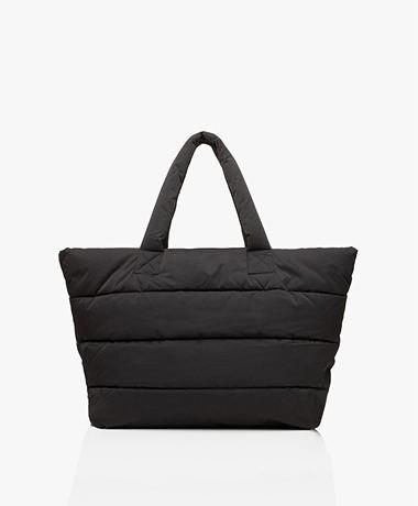 Closed Padded Puffer Bag - Black