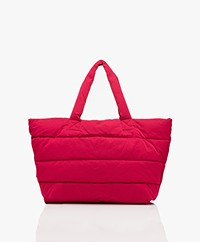 Closed Padded Puffer Bag - Ruby