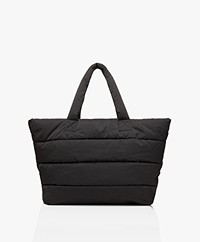 Closed Padded Puffer Bag - Black