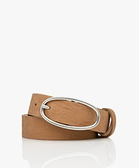 American Vintage Kentucky Leather Belt - Sahara