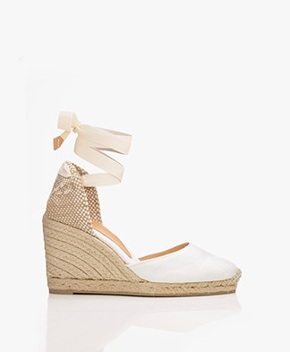 Castaner Carina Canvas Wedge Espadrilles - White