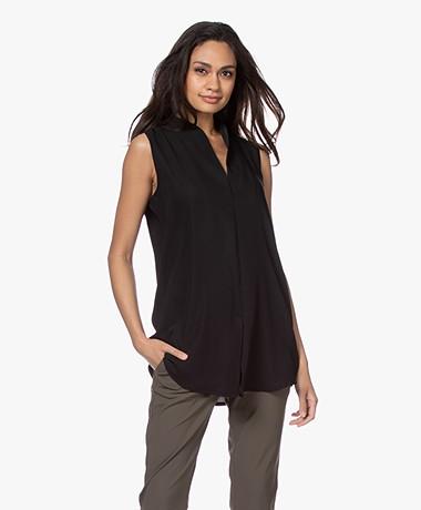 Woman By Earn Lot Sleeveless Blouse - Black