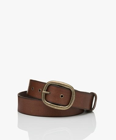 MKT Studio Disby Leather Belt - Brown