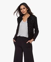 IRO Kea Boucle Blazer Jacket - Mixed Black