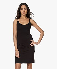 LaSalle Jersey Lyocell Spaghetti Dress - Black