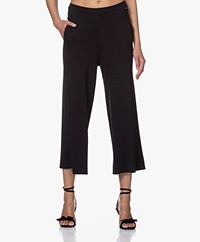 indi & cold Full-needle Ribbed Culottes - Black