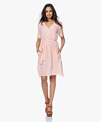 Josephine & Co Beertje Millefleurs Viscose Dress - Light Salmon