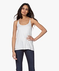Drykorn Arani Double-layered Lyocell Jersey Top - Off-white
