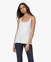 Drykorn Arani Dubbellaagse Lyocell Jersey Top - Off-white