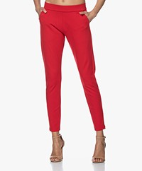 Woman by Earn Bobby Ponte Jersey Broek - Tomato Red