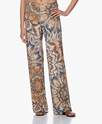 no man's land Kaleidoscope Print Jersey Pants - Denim