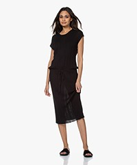 Joseph Tyler Ribbed Cotton Midi Dress - Black