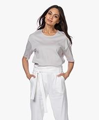 Filippa K Lois Mid-length Sleeve Tee - Sterling Grey