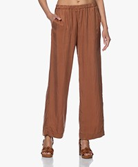 no man's land Loose-fit Cupro Broek - Red Earth