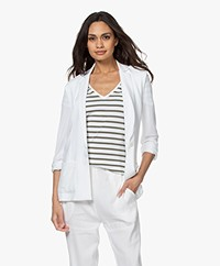 Majestic Filatures Viscose Jersey Blazer - White