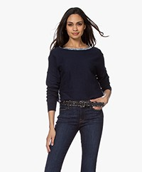 Zadig & Voltaire Anouk Cotton Blend Sweater with Coating - Myrtille
