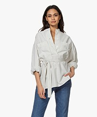 Vanessa Bruno Natia Striped Blouse - Ecru