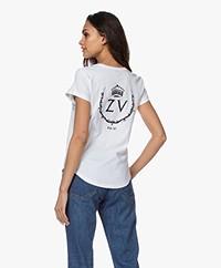 Zadig & Voltaire Aretha ZV Crown T-shirt - Wit