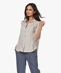 by-bar Bodil Linnen Blouse - Linen
