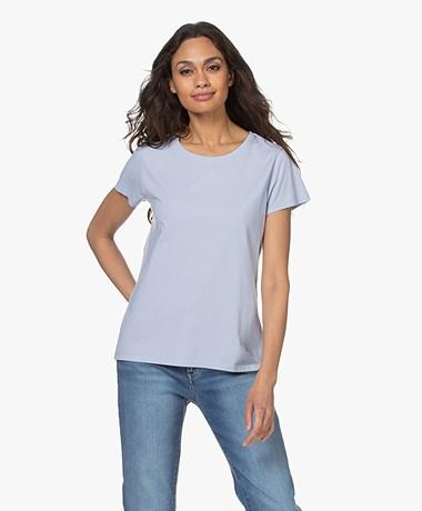 no man's land Katoenen Basis T-shirt - Pale Blue