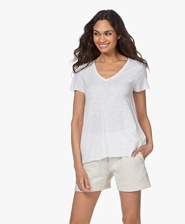 American Vintage Jacksonville V-hals T-shirt - Wit