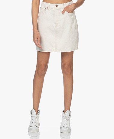 Rag & Bone High-Rise Bio Cotton Mini Skirt - Ecru