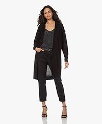 Drykorn Surima Fine Knit Open Cardigan - Black