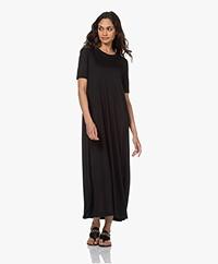 Drykorn Jannie Lyocell Maxi A-line Dress - Black