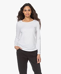 Majestic Filatures Jane Deluxe Cotton Long Sleeve - White