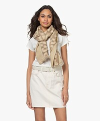 Rag & Bone Abstract Cheetah Modalmix Sjaal - Stone Beige