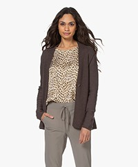 Belluna Adagio Cotton Blend Cardigan - Brown