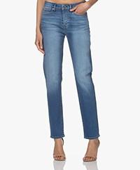 Denham Jolie Straight Jeans met Hoge Taille - Blauw