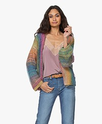 Mes Demoiselles Revival Mohair Blend Kimono Cardigan - Multi-color