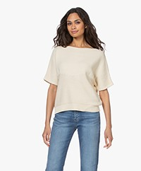 by-bar Laurie Cotton Short Sleeve Pullover - Off-white