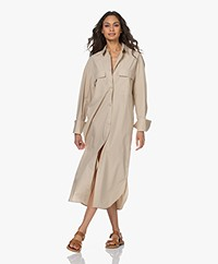 By Malene Birger Einadia Cotton Poplin Shirt Dress - Nature