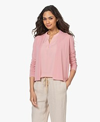 Kyra & Ko Casia Cotton Open Cardigan - Rose
