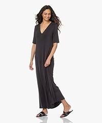 By Malene Birger Erinn Cupro Blend Jersey Maxi Dress - Black