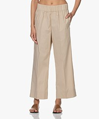 By Malene Birger Mizoni Katoenen Poplin Pull-on Broek - Nature