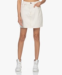 Rag & Bone High-Rise Bio Cotton Mini Skirt - Ecru