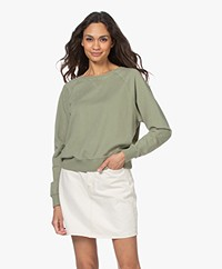 by-bar Eve Organic Cotton Sweatshirt - Bright Olive