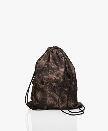 Filippa K Soft Sport Tie Dye Gymbag - Brown/Grey/Off-black